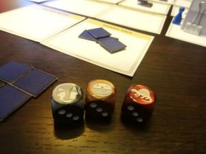 The very mean DoubleClickStarter dice